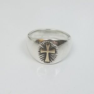 James Avery Jewelry - James Avery Sterling SILVER Ring 14K GOLD Cross